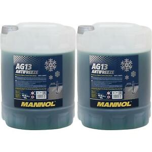 20L-Kuehlerfrostschutz-Typ-G13-MANNOL-Antifreeze-Kuehlmittel-40-C-gruen