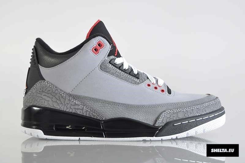 2018 Nike Air Jordan 3 III Retro Grey Stealth Size 12. 136064-003 1 2 4 5 6