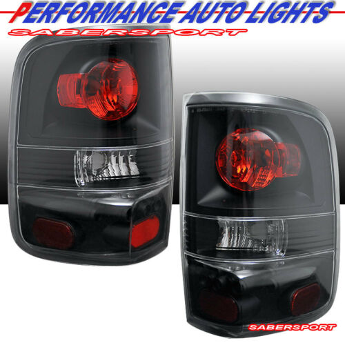 Set of Pair Black Clear Altezza Style Taillights for 2004-2008 Ford F-150