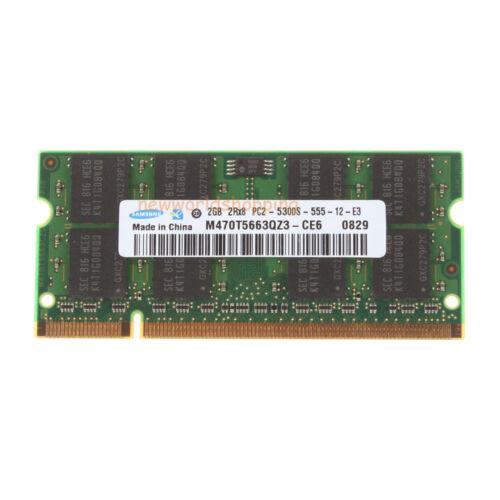 4GB Samsung 2X 2GB 2Rx8 PC2-5300 DDR2 667MHZ 200Pin Laptop Sodimm Memory RAM NE