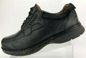 clarks unstructured unbend oxfords black leather casual