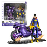 6 Batgirl Figure Dc Comics Icons Collectibles Of Burnside Motorcycle Deluxe Set