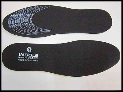 1 Par Negro Unisex De Espuma De Memoria Plantillas Confort Zapato Entrenador
