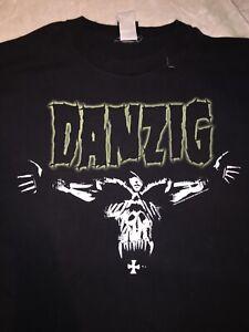 Danzig-Misfits-Vintage-Tour-T-Shirt-Size-XL-Original-Rare-Punk-Thrasher-Metal