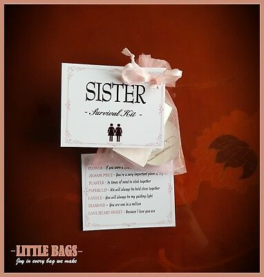 Details About SISTER SISTERS SURVIVAL KIT BIRTHDAY GIFT PRESENT THANK YOU KEEPSAKE