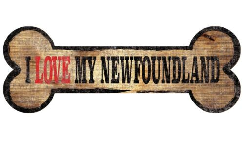Newfoundland Sign I Love My Bone 3x10