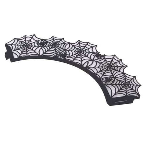 Halloween Decorations Cupcake Wrappers Wraps Case Hollow Laser Cut Cake SL