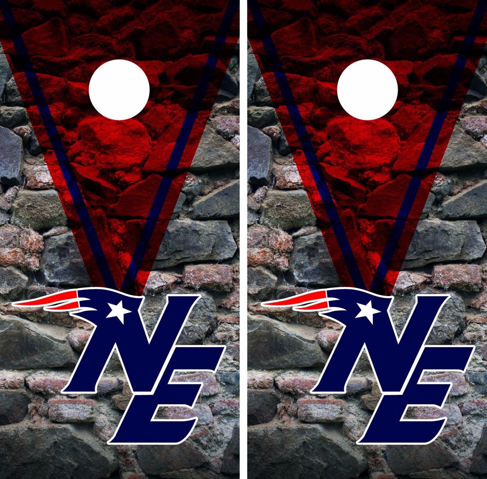 New England Patriots Cornhole  Skin Wrap NFL Football Vintage Design Vinyl DR53  best quality