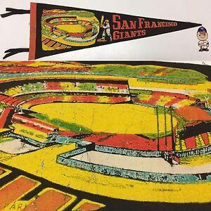 1960's San Francisco Giants 8.5x26 Baseball Vintage Pennant MLB SF California