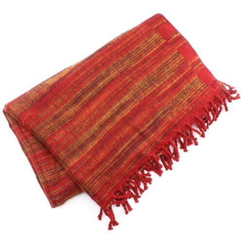 Acrylic Wool Shawl Scarf Blanket Throw Tassels Warm Hill Queen Indian Striped