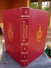 WITCHCRAFT Malleus Maleficarum HAMMER OF WITCHES Exorcism Manual LEATHER BOUND