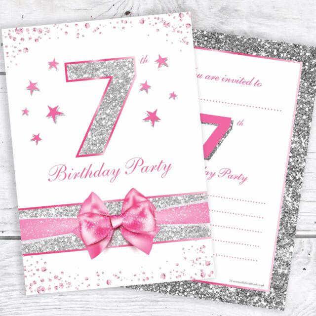 7th Birthday Party Invitations