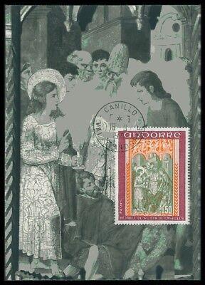 Smart Andorra Mk 1971 Fresken Frescos Maximumkarte Maximum Card Mc Cm Ac76