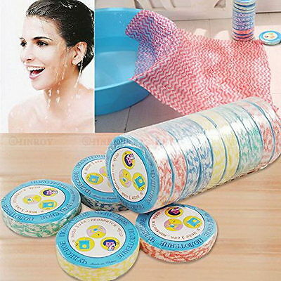 10pcs Magic compressed bath face travel reusable towels Washcloths Disposable