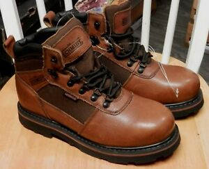 e1d892bba61 Details about NEW Mens CE Schmidt Leather Workwear Brown boots Sz 9 M