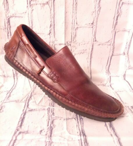 John Varvatos USA Brown Leather Loafers Moccasin S