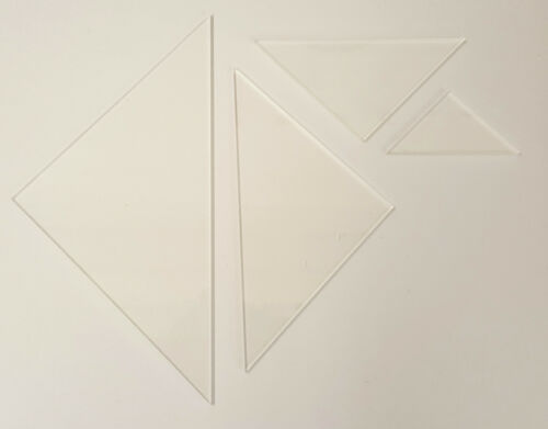Triangle Patchwork Shape Templates 3mm Clear Acrylic Quilting Ruler