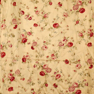 Image Is Loading Linens WAVERLY Bathroom Shower Curtain HOME Floral Roses