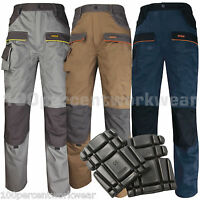 2x Delta Plus Panoply MCPAN Mens Work Cargo Trousers Pants + FREE Knee Pads New