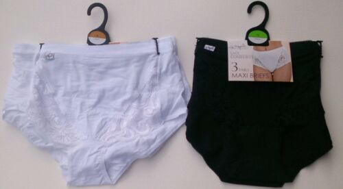 Ladies* Lace STRETCH Comforts Maxi Briefs 6 pair pack size 12,14,16,18,20,22