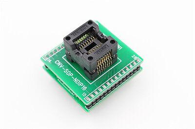 SOP16 SOIC16 to DIP16 Socket Programmer Adapter double PCB Board sop16-1.27-1