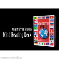 Around The World Mind Reading Deck Magic Trick - Mentalism Card Illusion Flags