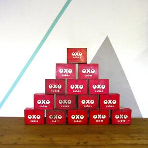 Vintage Oxo Tin Red Storage 1950s Kitchen Kitsch Retro Box Metal Industrial