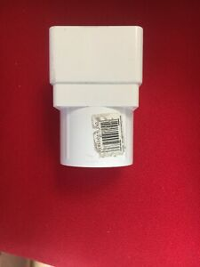 Square To Round Rainwater Downpipe Connector White