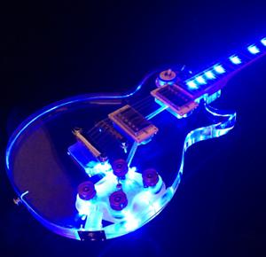 2018 de calidad superior nuevo Arrivel P&P guitarra guitarra guitarra eléctrica de luz LED de Color azul CNC Hecho  el mas de moda