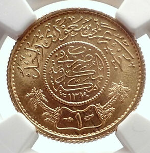 1950-Saudi-Arabia-GOLD-Trade-Coinage-COIN-of-Mecca-NGC-Certified-MS-66-i70550