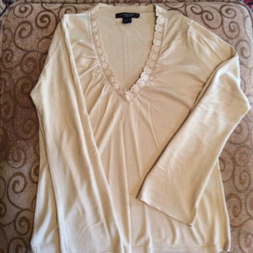 Knits Top Women Beige M Silk August AYTaxqwpf