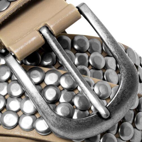 Caspar 100/% lleno de cuero señora cinturón de cuero vintage cinturón tachuelas cinturón tachuelas