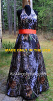 Camo Wedding Dress/gown-long Or Short Halter 'cami' Made In The Usa