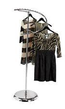 "Spiral Clothing Rack 29 Ball Garment Retail Display Store Fixture Chrome 63"" H"