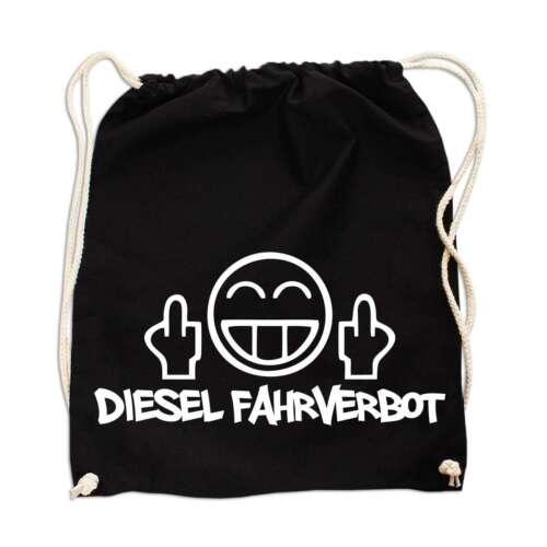 Rucksack Tasche Beutel Diesel Fahrverbot Power Motiv Tuning Werkstatt Kfz Spruch