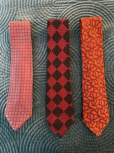 VALUABLE CHARVET TIES-(3)-OR INDIVIDUALLY