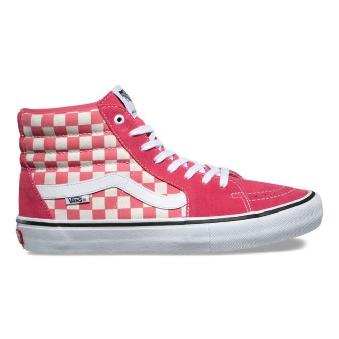 Vans Sk8-Hi Sk8-Hi Sk8-Hi Pro Checkerboard scarpe - Desert rosa - Dimensiones 8-12 199f18