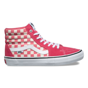 ca61a8e2bb8 Image is loading Vans-Sk8-Hi-Pro-Checkerboard-Shoes-Desert-Rose-