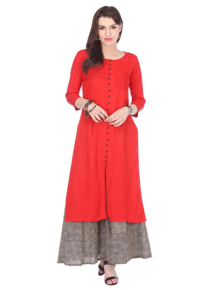 Le Meilleur Indian Women Straight Wear Rayonne Robe Ethnique Haut Bonne Qualité Pour Femmes & Filles éGouttage
