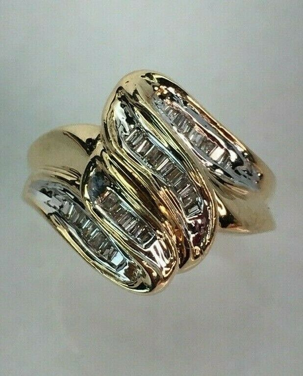 10 K Yellow gold And Diamond Ring Size 5 3 4
