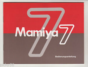 4-languages-to-pick-MAMIYA-7-INSTRUCTION-MANUAL-ORIGINAL-PRINT