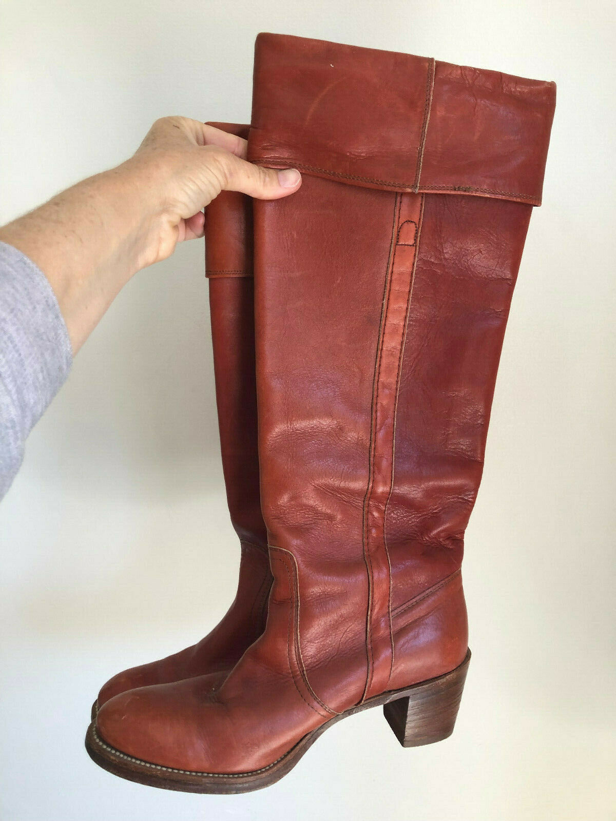 Womens VTG Frye 70s Hippy Boots Size 9 B