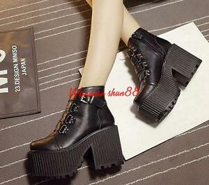 womens-lady-gothic-punk-ankle-boots-buckle-strap-platform-high-chunky-heel-shoes