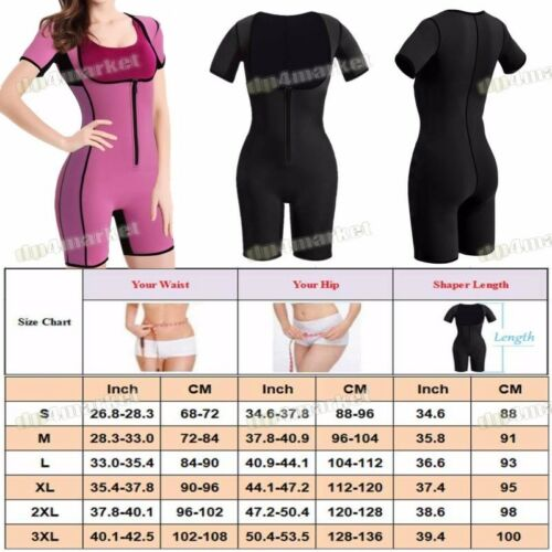 Neoprene Sauna Suit Full Body Shaper Ultra Sweat Weight Loss Yoga Jumpsuit Yoga