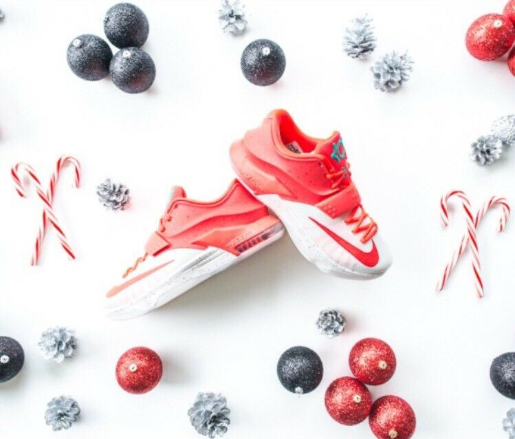 newest collection ccf37 34f22 ... top quality nike kd 7 red vii xmas egg nog sz 14 christmas crimson red 7