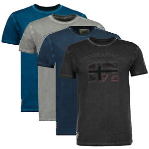 T-shirt-JOTZ-Geographical-Norway-Uomo-100-cotone-maglia-manica-corta-SR083H-GN