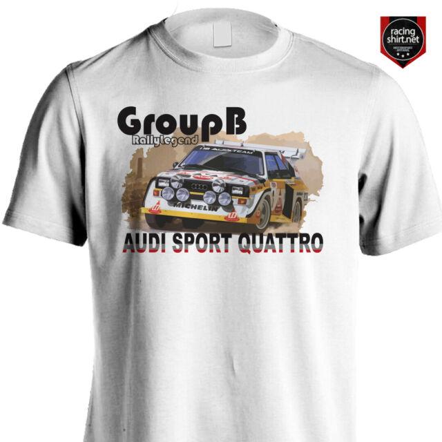 Audi Sport Rally Ur Quattro Group B T Shirt: Audi Sport Quattro S1 Group B Rally Racing Motorsport