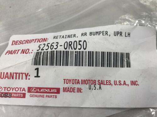 Toyota OEM 2016-2018 RAV4 Rear Bumper Upper Retainer Left Driver 52563-0R050