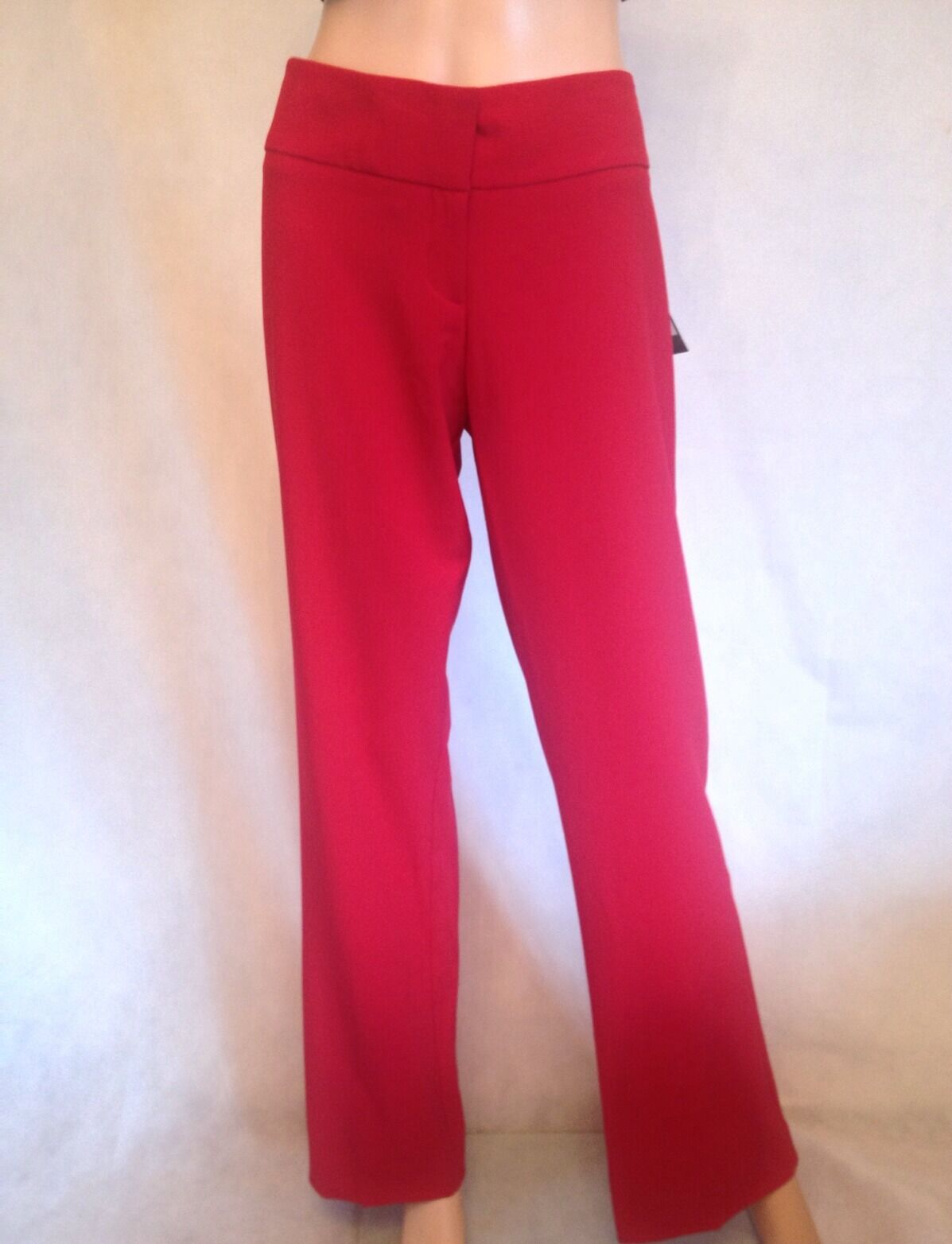 Kenneth Cole New York Designer Red  Wide Leg Trousers  Sz 16 W34 L32 Pp48