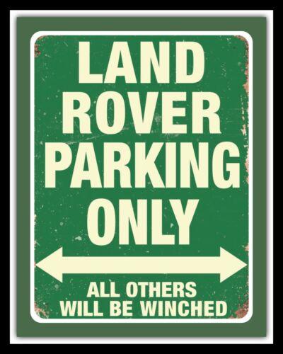 Land Rover Parking Range Rover font Defender Métal Mural Signe d/'autres en vente 582